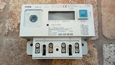 Iskra ME162 Electricity Usage Meter 1 phase 2 wire missing covers 230v