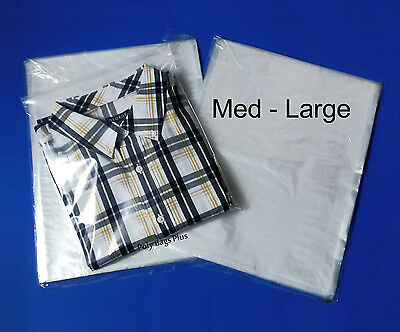 """500 11x12"""" Clear Poly Bags 1 Mil Lay-Flat Open Top Shirt Clothes Plastic Baggies"""