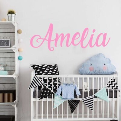 Personalized Name Wall Sticker Boys Girls Name Decal Kids Room Decoration Vinyl