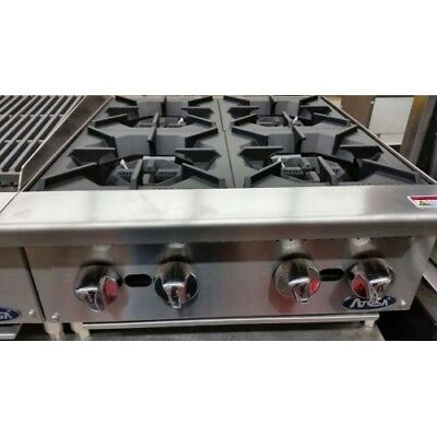 "24"" 4 Burner Commercial Counter Top Gas Hot Plate Range Stove Nat / Lp  Gas"