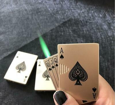 Portable Refillable Handy Cigarette  Windproof Poker Playing Card Magic Lighter