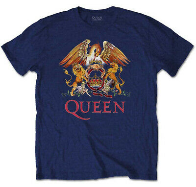Queen 'Classic Crest' (Navy) T-Shirt - NEW & OFFICIAL!