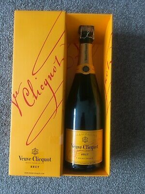Veuve Clicquot Champagne 750ml Empty Bottle And Box