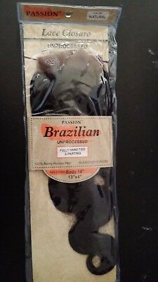 Brazilian Unprocessed 13X4 Fully Hand Tied 3Parting 100% Remy Human Hair 14'