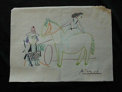 PABLO PICASSO  - DRAWING ON  PAPER  - dessin  -  dibujo -