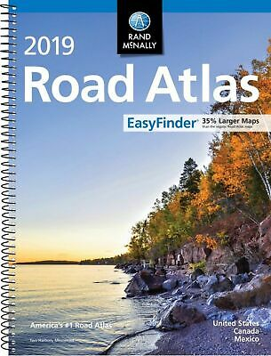 Rand Mcnally USA Road Atlas 2019 BEST Large Scale Travel Maps United States