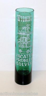 WYOMING Tall Shot Glass Vacation Problem Solver Adult Beverage Measurements