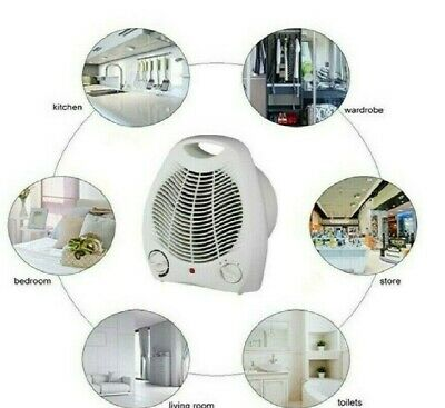2KW Portable Home Electric Upright Adjustable Fan Heater Hot Cold Small 2000W