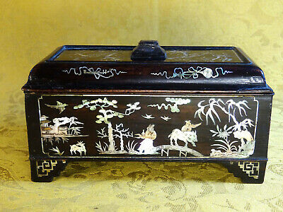 Fine Antique Chinese Mother-of-Pearl inlaid Box