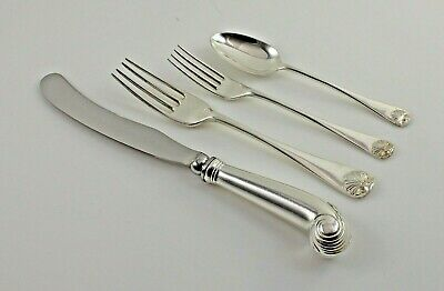 Stieff Williamsburg Shell Sterling Silver 4 Piece Place Setting(s) - No Mono