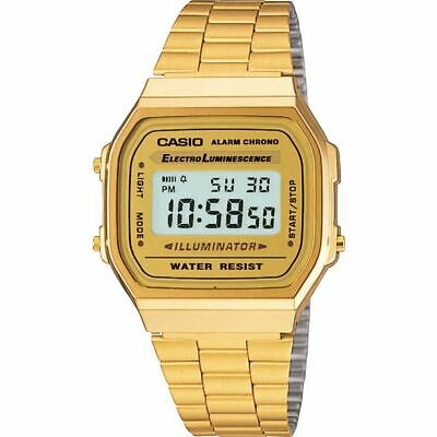 Casio Classis Band?A168WG-9E Digital Watch Gold Unisex NEW Stainless Steel Wrist