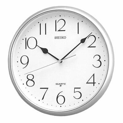 Numerals - Silver Quartz Wall Clock with Arabic from movement AMS NEW Modern