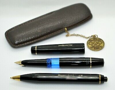 KAWECO Sport V16 Fountain Pen & Ballpen 619 (1972); 14 K. Leather case Olympic.