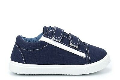 Chatterbox Boys Velcro Pumps Navy Boys Trainers Sneakers Easy Fastening Size