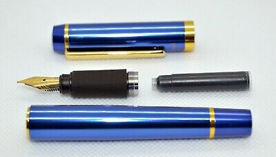 Large Ohto Proud Blue fountain pen (2018). Rare pen – Japan. Iridium point.