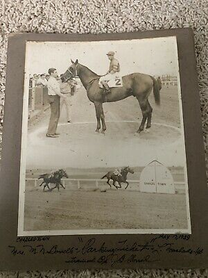 May 17, 1939 Vintage Horse Racing Photograph Parking Ticket Charles Town WV