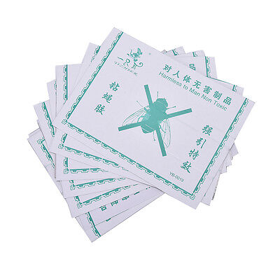 10pcs Sticky Glue Paper Fly Flies Trap Catcher Bugs Insects Catcher Board TO