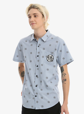 Dragon Ball Z Goku Short-Sleeved Woven Button-Up