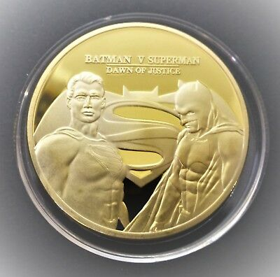 Batman V Superman - Dawn Of Justice - 1Oz Gold Layered Coin