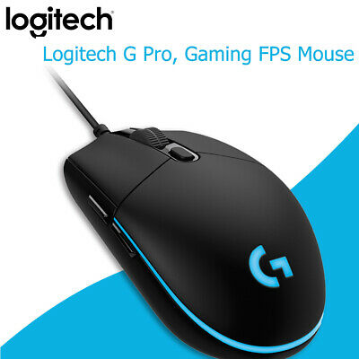 Logitech G Pro Gaming FPS Mouse 12000DPI RGB Wired Programmable Mouse for PC