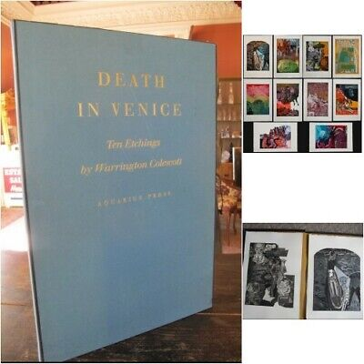 DEATH in VENICE Signed Limited Ed 2 sets of 10 Warrington Cole Scott ETCHINGS