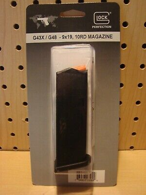 Factory Glock 43X , 48 Magazine 9mm 10 Round #47818 New in Package