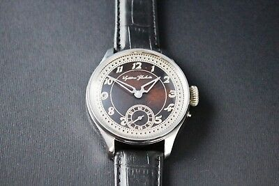 SYSTEME GLASHUTTE Antique 1900`s NEW CASED rare Men`s German Wrist Watch