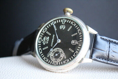 JUNGHANS Vintage 1930`s SILVER MILITARY STYLE (0.800) rare German Wrist Watch