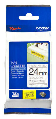 Brother TZES151 TZeS151 label-making tape TZ Black on Clear Tape with Extra