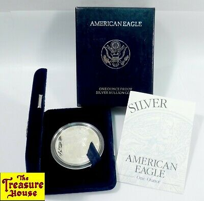 1998-P American Eagle S$1 ONE DOLLAR 1 OZ .999 Fine Silver Proof Coin OGP & COA!