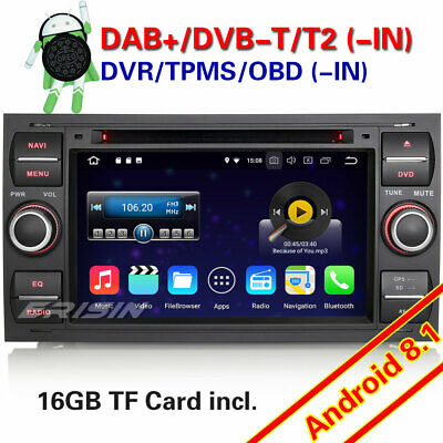 Android 8.1 Car Stereo for FORD FOCUS FIESTA Mondeo KUGA S/C-Max Fusion 4G OBD
