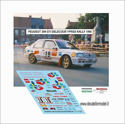 Decals 1/43 Peugeot 309 Gti Delecour Rally Ypres 1990