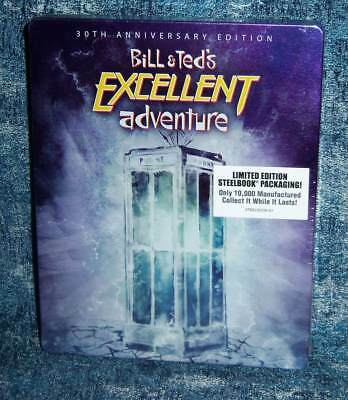 New Bill & Ted's Excellent Adventure 30Th Anniversary Steelbook Blu Ray Movie