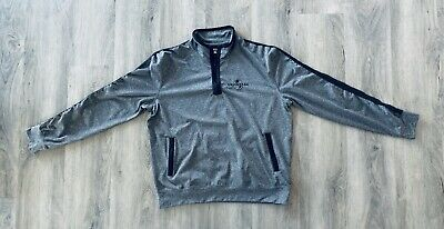 Universal Studios Hollywood Embroidered Charcoal Silver Grey Mens Large Jacket