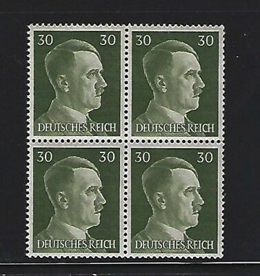 MNH  Adolph Hitler stamp block, 1941, PF30, Original Third Reich Germany Block