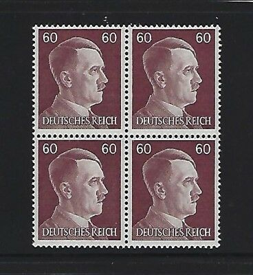 MNH  Adolph Hitler stamp block, 1941, PF60, Original Third Reich Germany Block