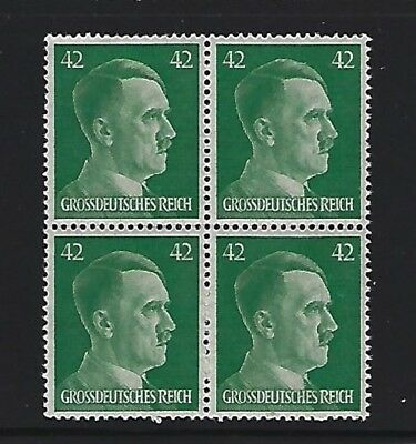 MNH  Adolph Hitler stamp block, 1944, PF42, Original Third Reich Germany Block
