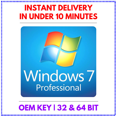Windows 7 Professional 32/64 bit Activation key (instant email delivery)