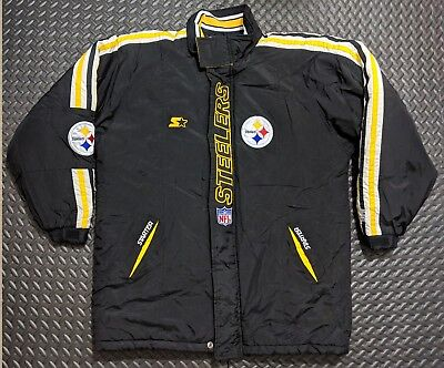 Wholesale VINTAGE STARTER HEAVY Weight 90's NFL Pittsburgh Steelers (Large  for sale