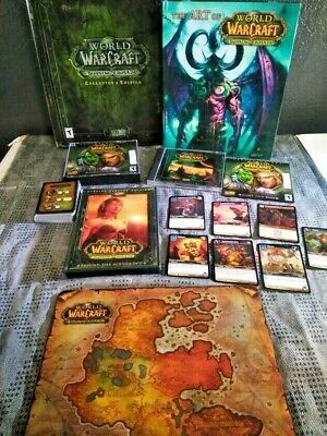 World of Warcraft Collectors edition lot Burning Crusade Lich King, Cataclysm