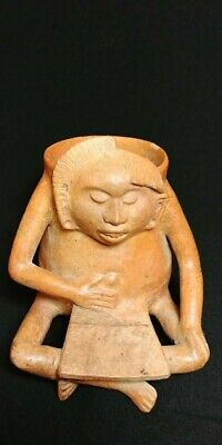Pre-Columbian Mayan figural vase from Guatemala. 650 ad.
