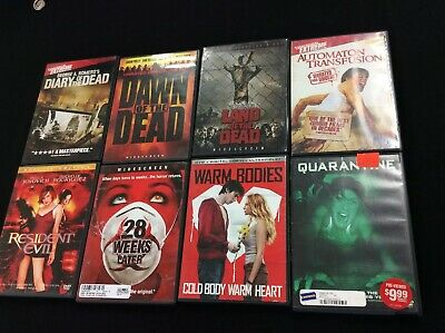 Horror DVD Bundle Lot Of 8 Zombies Romero 28 Weeks Land Diary Dawn Of The Dead