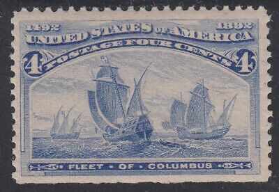 TDStamps: US Stamps Scott#233 4c Columbian Mint NH OG Spot