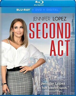 Second Act (BLU-RAY ONLY 2019) Case And Artwork Never Viewed Ships 3/26