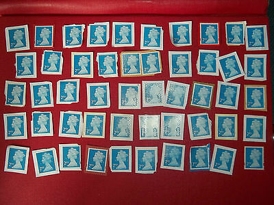 50 X 2Nd Class Unfranked Stamps On Paper