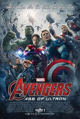 AVENGERS: AGE OF ULTRON ORIGINAL 27x40 MOVIE POSTER (2015) EVANS & DOWNEY JR.