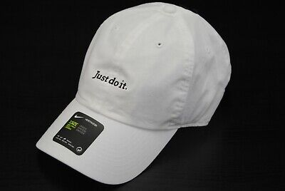 adbd29ba1542f NEW MEN'S NIKE Bv3376-100 U Nsw H86 Cap Jdi Just Do It Dad Hat White Black
