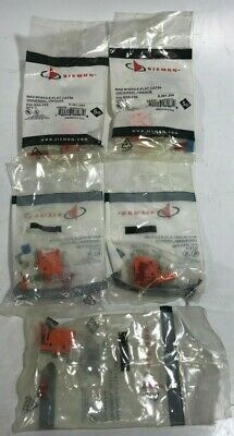LOT of 5 - Siemon PN# MX5-F09 Max Module Flat Cat5e Universal Orange - NEW!