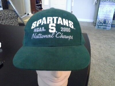 brand new 304d5 f4290 NCAA Michigan State Spartans Green Baseball Cap Hat Adjustable Adult Size  Cotton