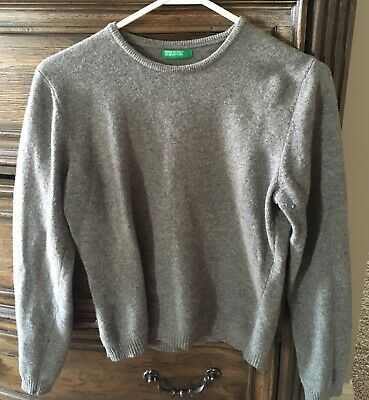 e39ff6a6a41 UNITED COLORS OF benetton. gray pullover sweater. size S -  2.70 ...